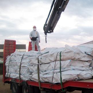 Transporte de amianto